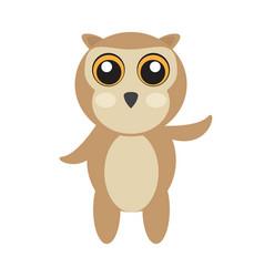 Isolated cute owl vector