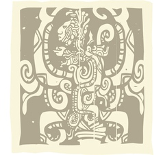 Mayan Carvings vector image