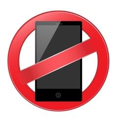 mobile phone forbidden vector image vector image