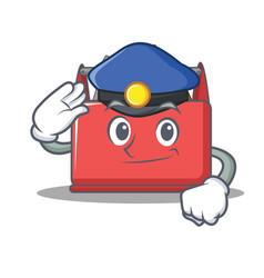 Police tool box character cartoon vector