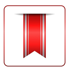 Red bookmark banner tag vector