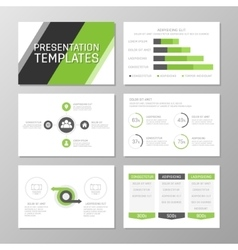 Set of gray and green template for multipurpose vector