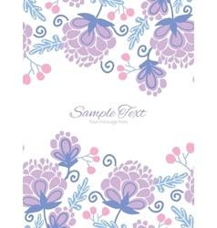 Soft purple flowers vertical double borders vector