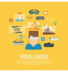 Virtual Glasses Flat vector image