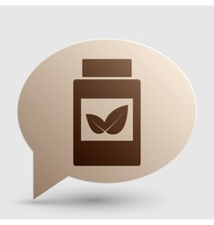 Supplements container sign brown gradient icon on vector
