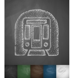 Subway car icon vector