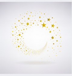 Circulation of Gold Stars vector image