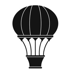 hot air balloon with basket icon simple style vector image