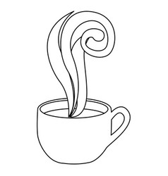 Figure coffee cup with steam vector