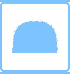 Hay stack icon vector
