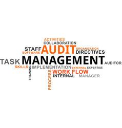Word cloud - audit management vector