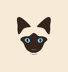 Head siamese cat vector