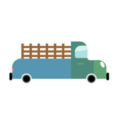 truck isolated cartoon style transport on white vector image