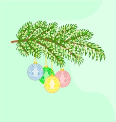 Christmas decoration branch vector