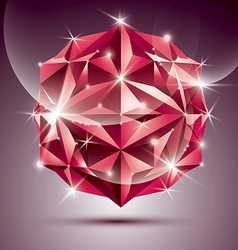 3d red shiny disco ball fractal dazzling abstract vector