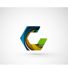 Abstract geometric company logo hexagon shape vector