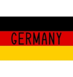 German flag and word germany vector