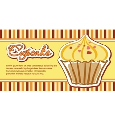 Cards with cupcakes vector image