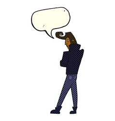 Cartoon cool guy with speech bubble vector
