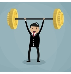 Business executive power lifting vector