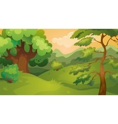Evening forest game background vector