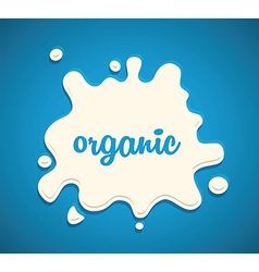 Milk splodge blue background vector