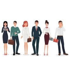 Young office detailed business people with vector