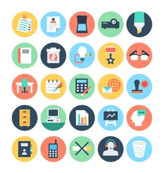 Office colored icons 4 vector