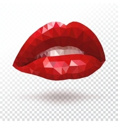 Red triangle lips vector