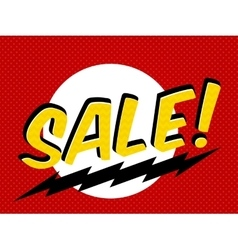 Sale tag shopping sticker label in comic style vector