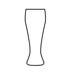 Beer glass black color icon vector