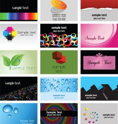 business card designs vector image vector image