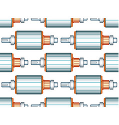electric motor rotor pattern vector image