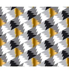 Elegant Christmas tree seamless geometry pattern vector image vector image