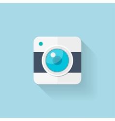 Flat web icon Camera application vector image