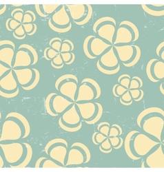 Grunge Retro flower pattern background seamless vector image