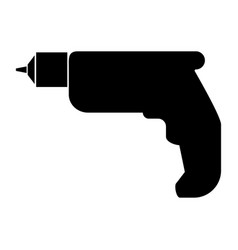 Hand drill the black color icon vector