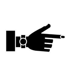 hand icon image vector image