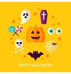 Happy halloween flat concept vector