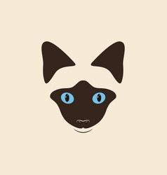 head siamese cat vector image