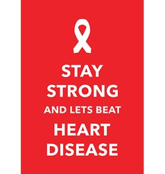 heart disease poster vector image