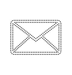 Letter sign black dashed vector