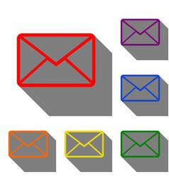 Letter sign set of red orange vector