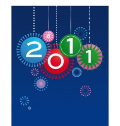 new year card design vector image vector image