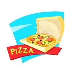 Pizza concept design vector image vector image