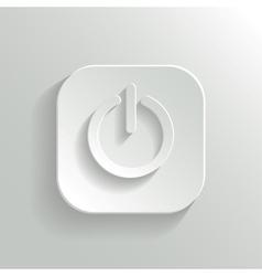 Power icon - white app button vector image vector image