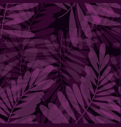 Purple violet tropical seamless pattern vector