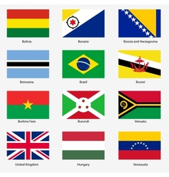 Set flags of world sovereign states set n vector