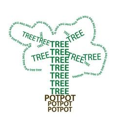Tree green eart eps10 vector