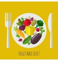 Vegetable menu banner vector
